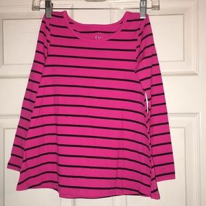 Justice long sleeve striped shirt